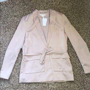 H&M satin pink blazer Sz:small